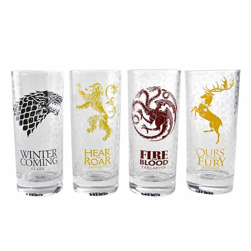 Game of Thrones All Sigils 300ml Glasses - Set of 4