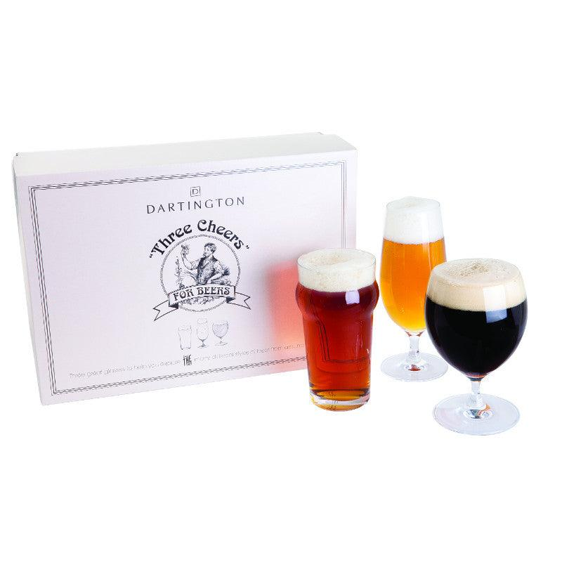 Dartington 3 Piece Cheers For Beers Glass Gift Set