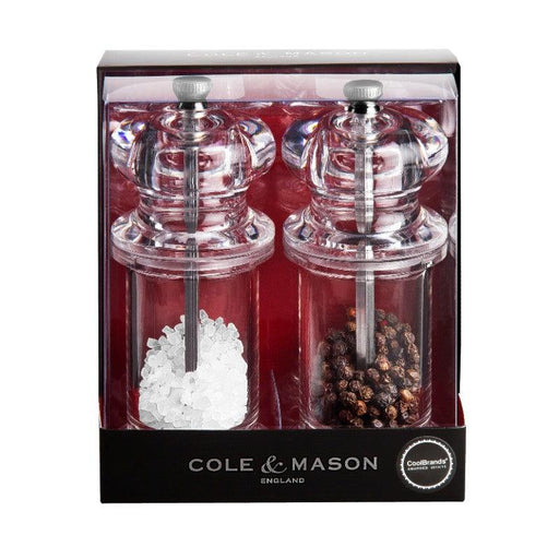 Cole & Mason Acrylic and Silver Salt & Pepper Gift Set