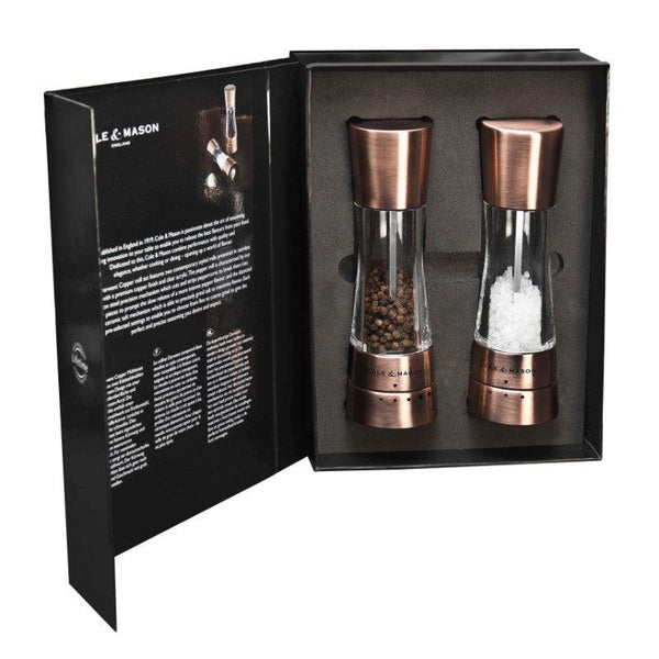 Cole & Mason Derwent Copper Salt & Pepper Mill Gift Set
