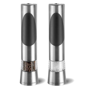 Cole & Mason Richmond Silver Electronic Salt & Pepper Mill