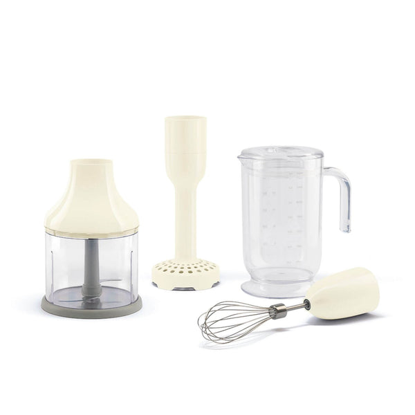 Smeg HBF02CRUK Hand Blender Set - Cream