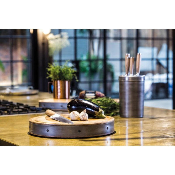 Industrial Kitchen Wooden Chopping Board - Round