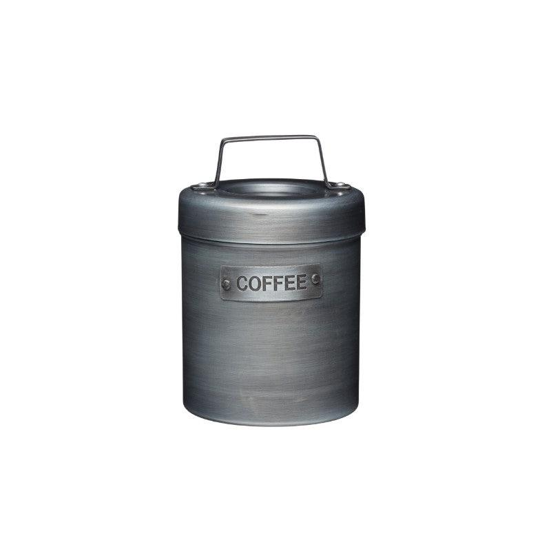 Industrial Kitchen Metal Coffee Canister - Grey