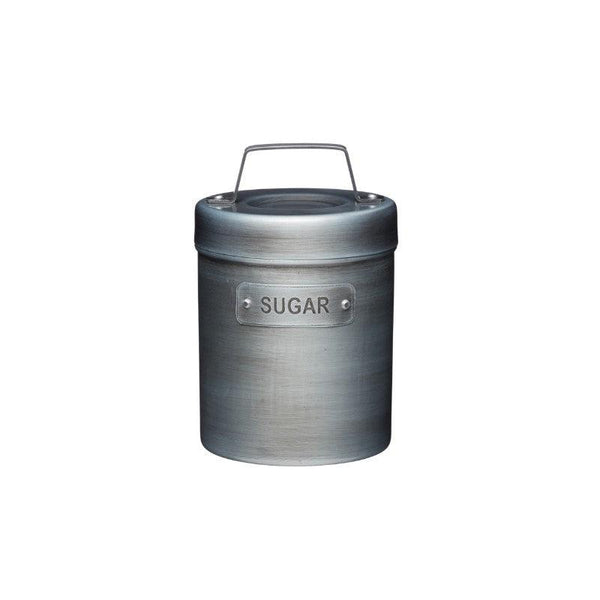 Industrial Kitchen Grey Metal Sugar Canister