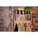 Industrial Kitchen Metal & Wood Wall Rack