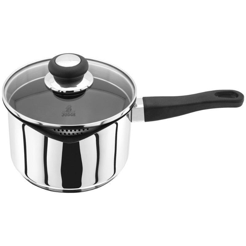 Judge Vista 18cm Draining Saucepan Non-Stick With Lid