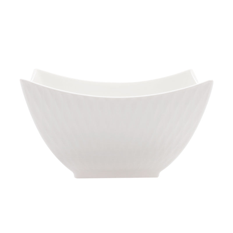 Maxwell & Williams White Basics Diamonds 16cm Square Soup Bowl