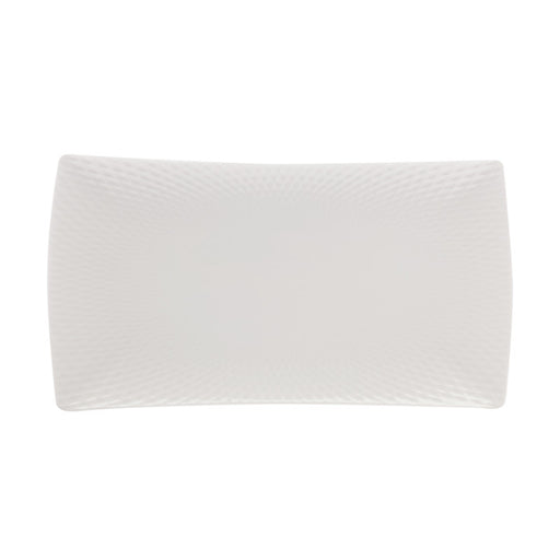Maxwell & Williams White Basics Diamonds Rectangle Platter - 30.5cm