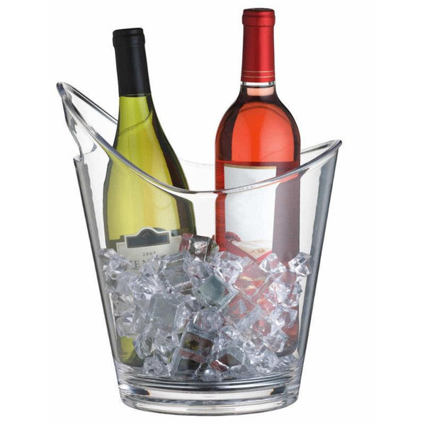Barcraft Small Clear Acrylic Drinks Pail Cooler Ice Bucket