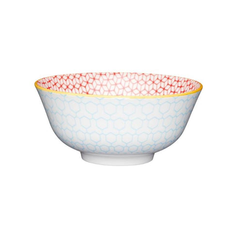 Kitchencraft Blue / Pink Geometric Ceramic Bowl