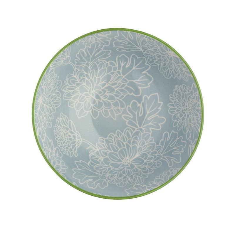 Kitchencraft Stoneware Bowl - Grey Floral
