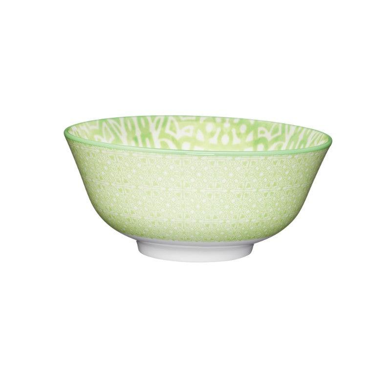 Kitchencraft Stoneware Bowl - Green Tile