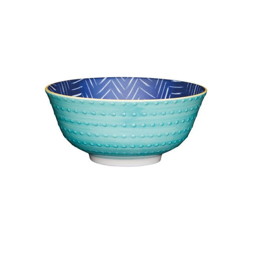 Kitchencraft Blue Chevron Ceramic Bowl