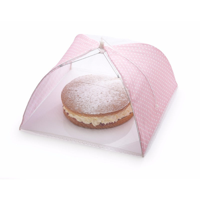 Sweetly Does It Pink & White Polka Dot Cake Umbrella - 42cm