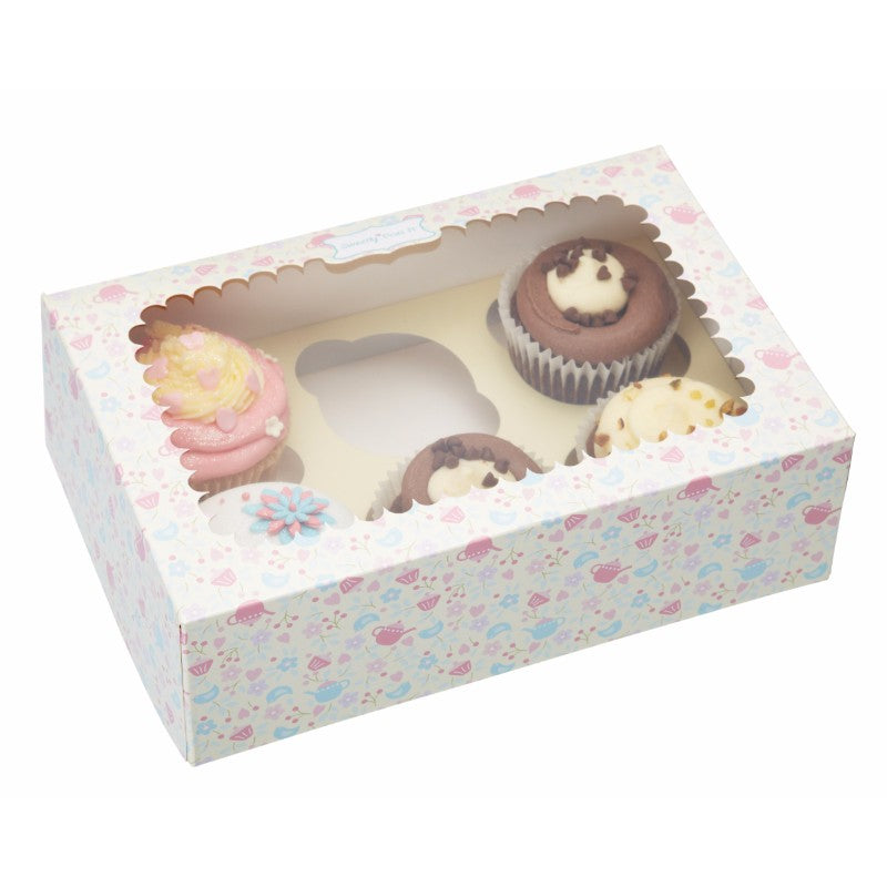 Sweetly Does It 2 Pack 24.5cm Cupcake Presentation Boxes