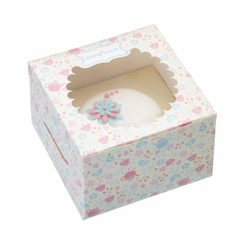 Sweetly Does It 4 Pack 11.5cm Cupcake Presentation Boxes