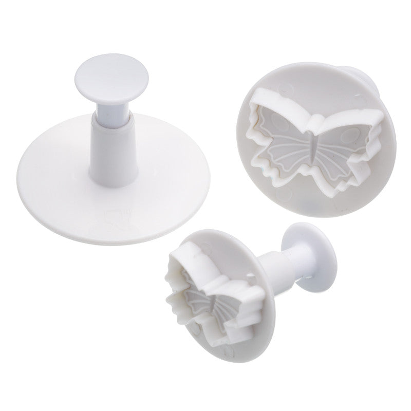 Sweetly Does It 3 Piece Fondant Plunger Cutter Set - Butterfly