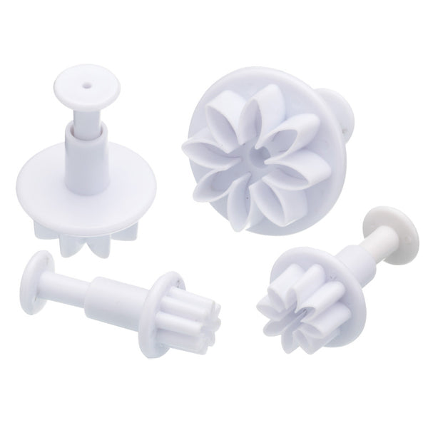 Sweetly Does It Flower Fondant Plunger Cutters - Set of 4