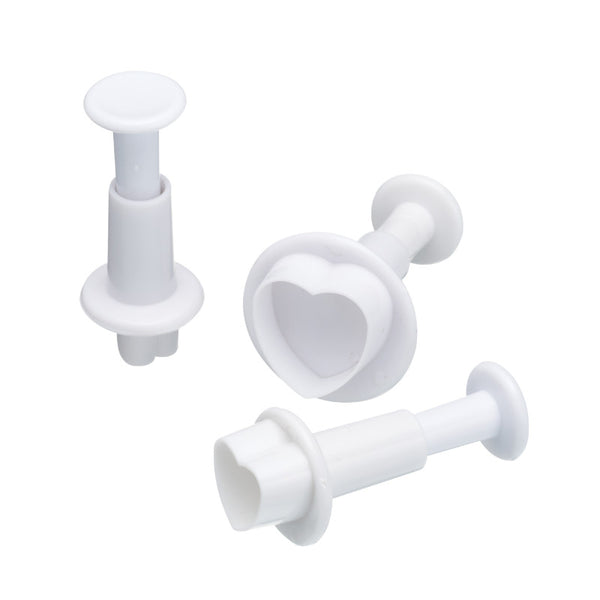 Sweetly Does It 3 Piece Fondant Plunger Cutter Set - Heart