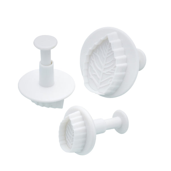 Sweetly Does It 3 Piece Fondant Plunger Cutter Set - Leaf