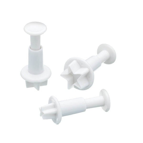 Sweetly Does It 3 Piece Star Fondant Plunger Cake Cutters