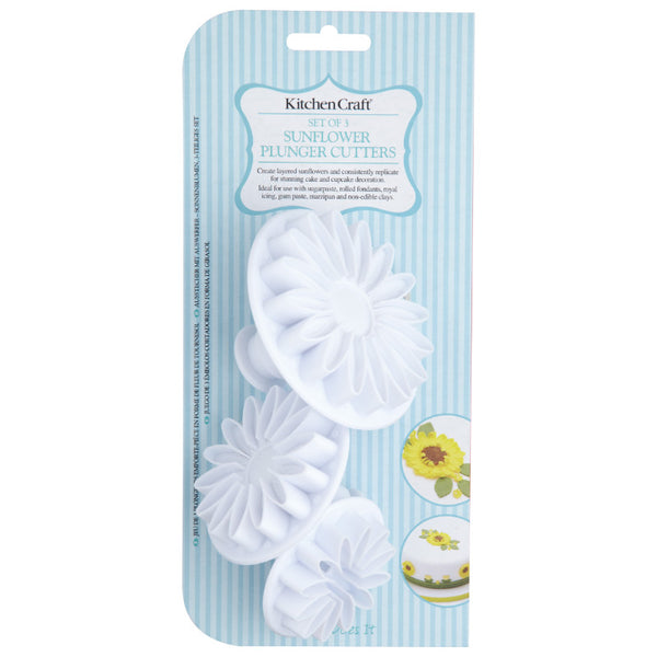 Sweetly Does It 3 Piece Fondant Cutter Set - Sunflower