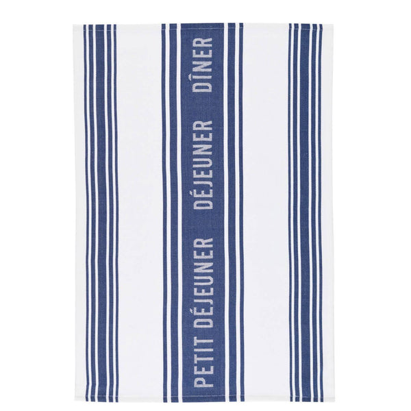 KitchenCraft Tea Towel Set - Jacquard Dark Blue