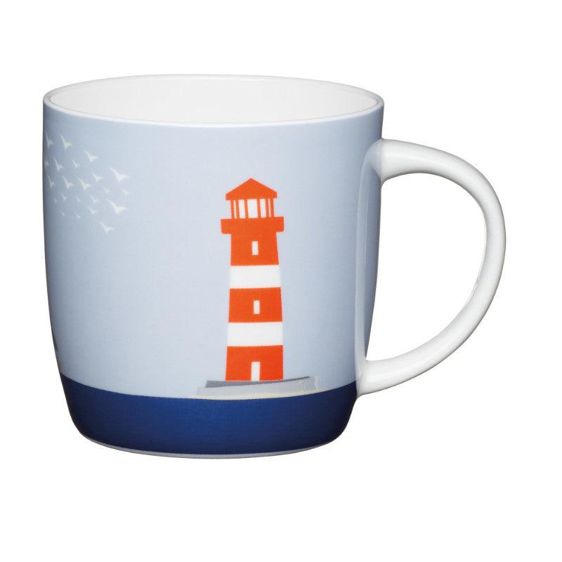 Kitchencraft 425ml Barrel Mug - Lighthouse