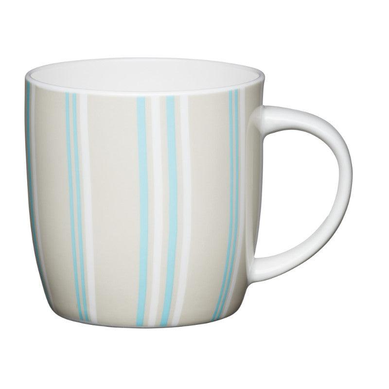 Kitchencraft 425ml Barrel Mug - Blue Stripe