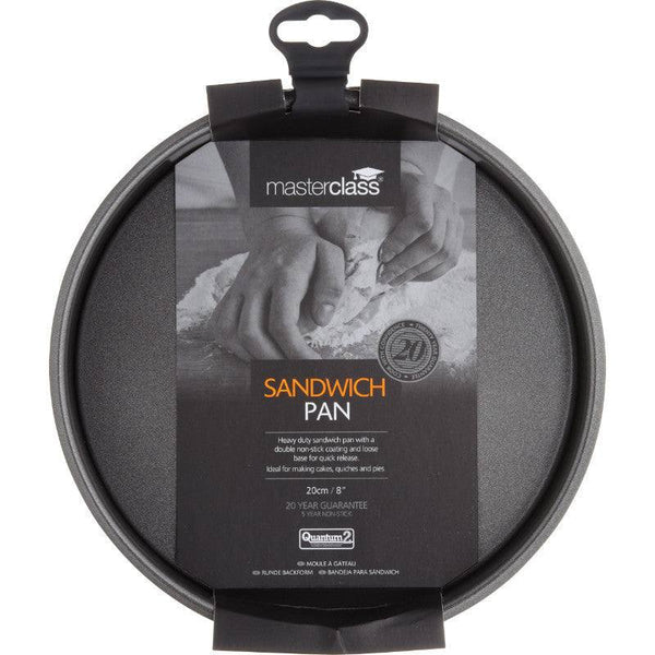 Masterclass 20cm Round Non-Stick Loose Base Sandwich Tin