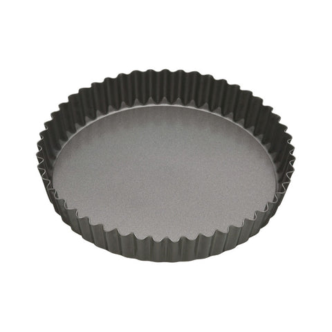 Masterclass 23cm Round Non-Stick Fluted Loose Base Quiche Tin