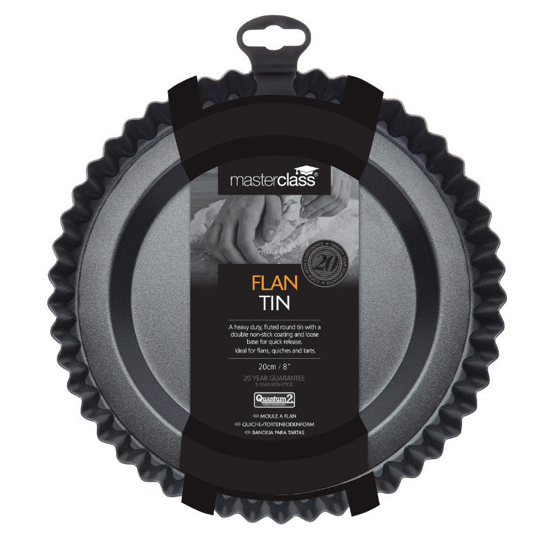 Masterclass 20cm Round Non-Stick Raised Fluted Flan Tin