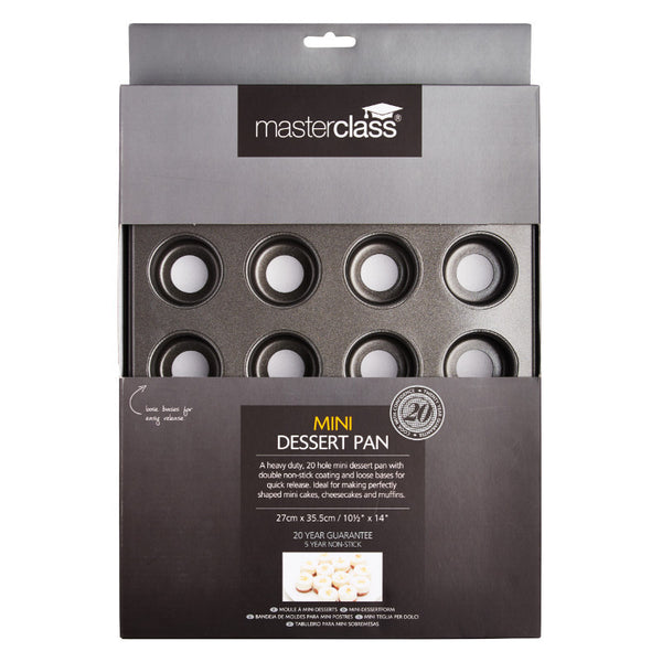 Masterclass 20 Hole Non-Stick Loose-Based Mini Dessert Pan