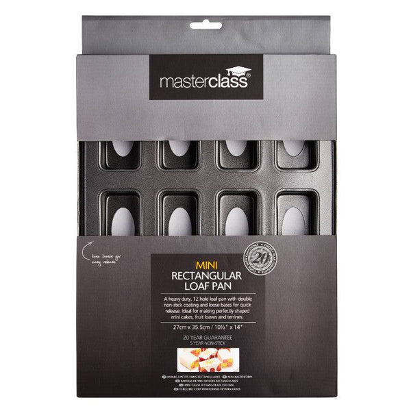Masterclass 12 Hole Non-Stick Mini Loaf Tin