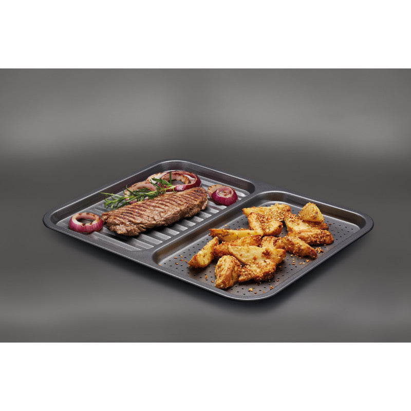 Masterclass Non-Stick Divided Baking Tray - 39cm