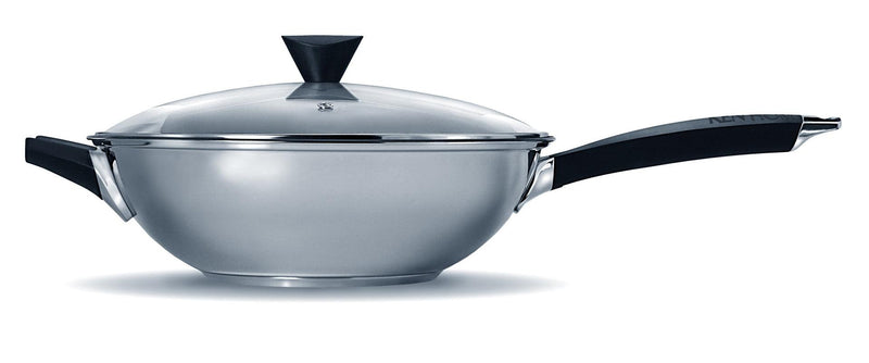 Ken Hom Performance Non-Stick Stainless Steel Wok - 32cm
