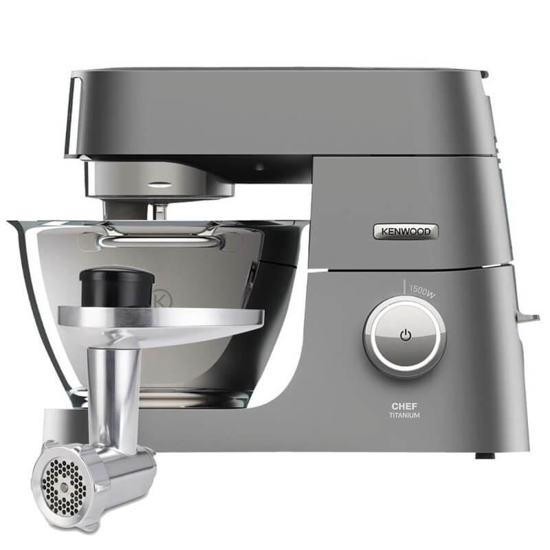 Kenwood Chef Titanium KVC7300S Stand Mixer With Free Meat Grinder Attachment