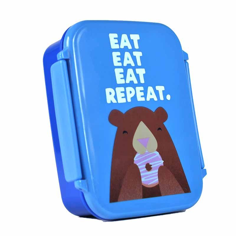 Jolly Awesome 'Eat, Repeat' Bear Lunch Box