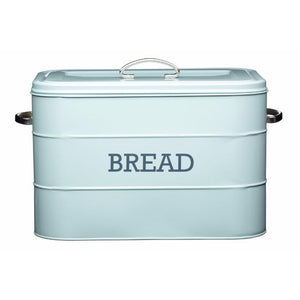 Kitchencraft Living Nostalgia Blue Bread Bin