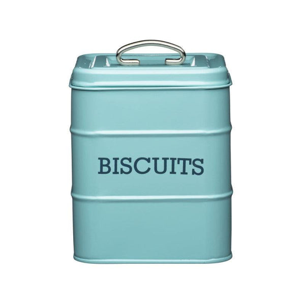 Living Nostalgia Biscuit Tin - Blue