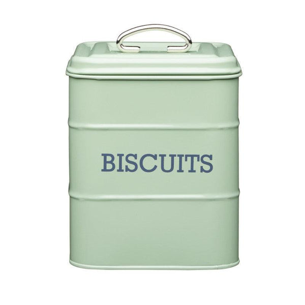 Living Nostalgia Biscuit Tin - Sage Green