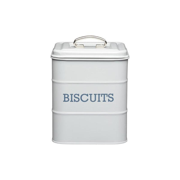 Living Nostalgia Biscuit Tin - Grey
