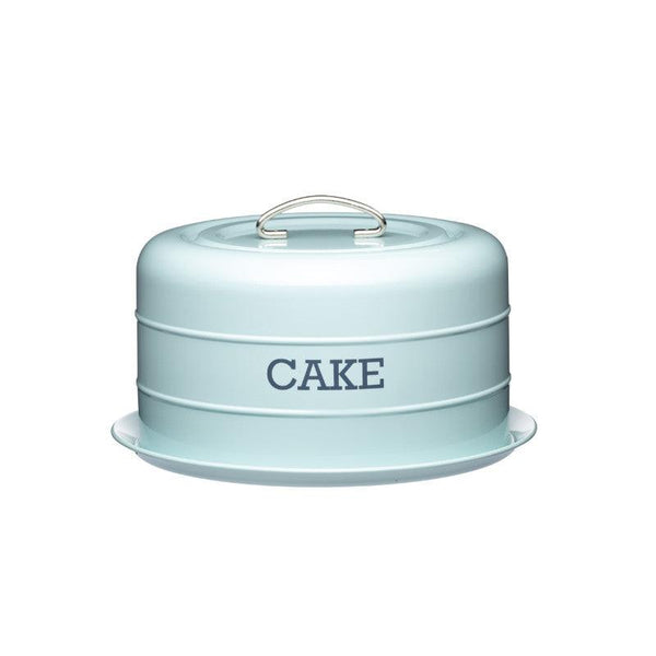 Living Nostalgia Cake Storage Tin - Blue
