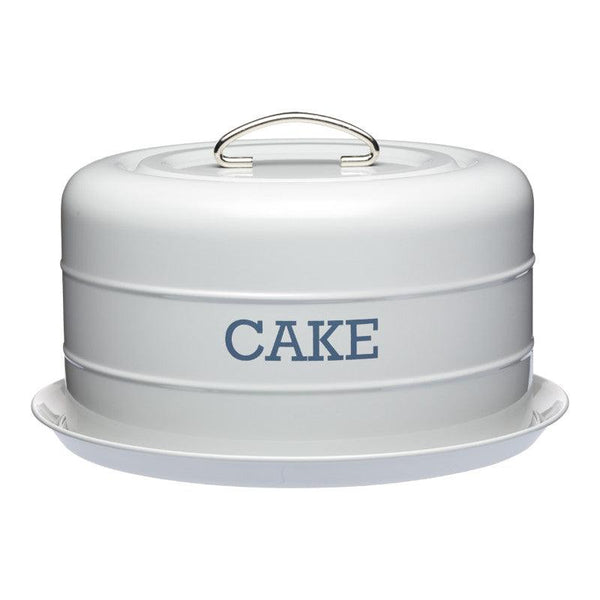 Living Nostalgia Cake Storage Tin - Grey