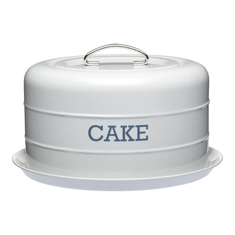 Kitchencraft Living Nostalgia Grey Cake Storage Tin
