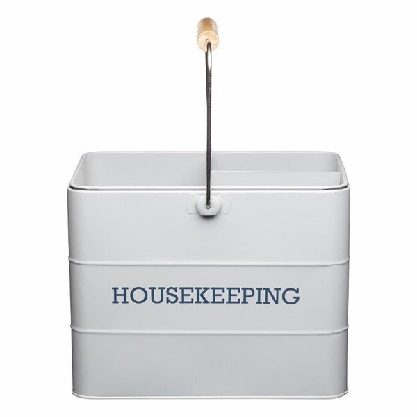 Living Nostalgia Housekeeping Tin - Grey