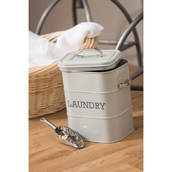 Living Nostalgia Laundry Soap Canister - Grey