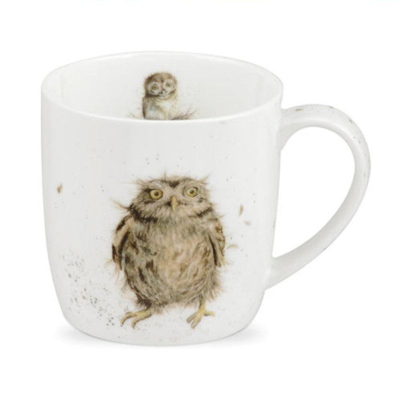 Royal Worcester Wrendale China Mug - What A Hoot Owl