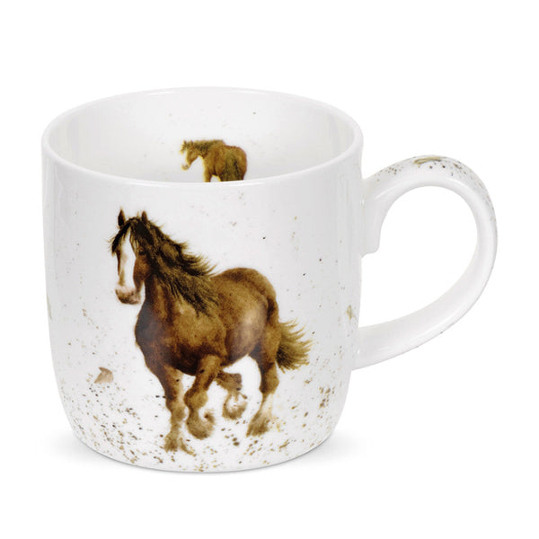 Royal Worcester Wrendale China Mug - Gigi Horse